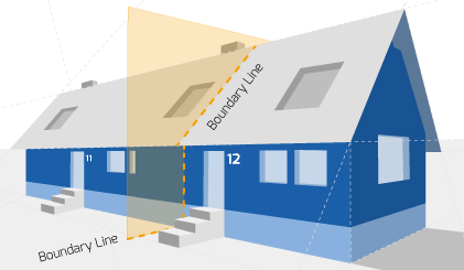 Party Wall illustration for Conwy Surveyors